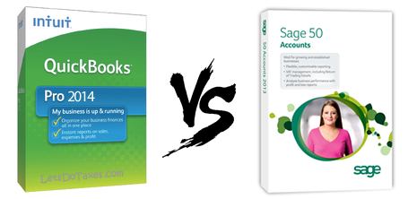 QuickBooks 2014 vs Sage 50 2014