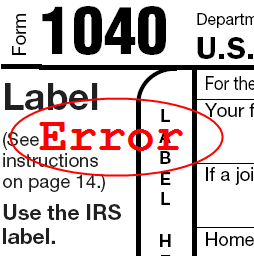 tax error made by tax professional