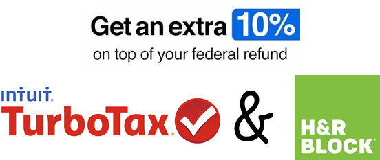 turbotax and hr block giftcard offer