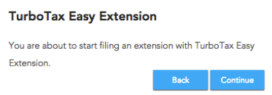 File a tax extension with TurboTax 2015 - 2