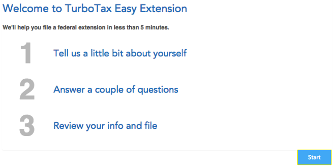 File a tax extension with TurboTax 2015 - 3